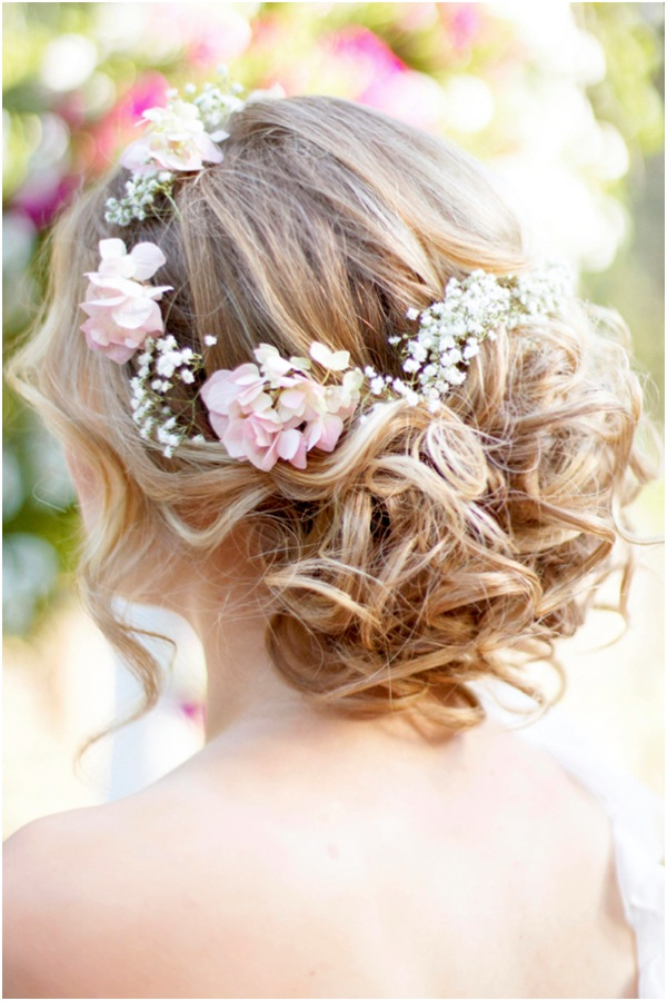 Wedding Hairstyle With Flower Crown
